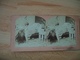 Lot De 2 Fantaisie  Enfant Secking Knowlodge  Saturn Et Lover Of Art Photo Stereo Steroscopique - Stereoscoop