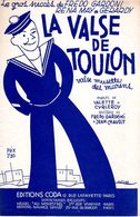 MARINE / MARIN - LA VALSE DE TOULON - 1937 - EXC ETAT PROCHE DU NEUF - - Música & Instrumentos