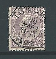 [52_0001] Zegel 52 Met Cirkelstempel Tongres Scan Voor- En Achterzijde - 1884-1891 Léopold II