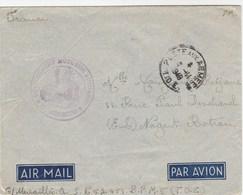 LETTRE FM POSTE AUX ARMEES 11/1949 T.O.E CACHET DETACHEMENT MOTORISE AUTONOME - SP 57453 - BPM 5 - POUR NOGENT LE ROTROU - Marcophilie (Lettres)