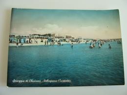 PALAGIANO TARANTO SPIAGGIA DI CHIATONA    TARANTO   PUGLIA      VIAGGIATA COME DA FOTO ACQUERELLATA  SENZA BOLLO - Taranto