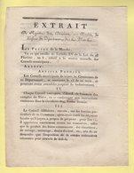 Prefet De La Manche - Extrait - 7 Pluviose An 10 - Session Annuelle Des Conseils Municipaux - Documents Historiques