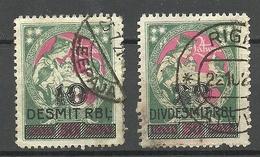 LETTLAND Latvia 1921 Michel 70 - 71 O - Lettonia