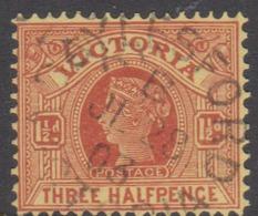 Australia-Victoria SG 366 1901-10 Three Half Penny,perf 12.5,used - 1850-1912 Victoria