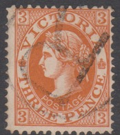Australia-Victoria SG 368 1901-10 Three Pence Brown T,perf 12.5,used - 1850-1912 Victoria