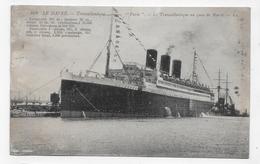 (RECTO / VERSO) PAQUEBOT TRANSATLANTIQUE PARIS - N° 408 - LE HAVRE - CPA VOYAGEE - 76 - Paquebote