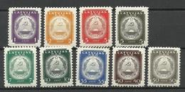 LETTLAND Latvia 1940 = 9 Values From Set Michel 292 - 304 * - Lettonia