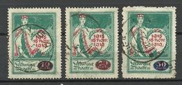 LETTLAND Latvia 1920 Michel 55 - 57 O Nice Cancels - Lettonia