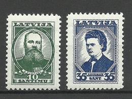 LETTLAND Latvia 1936 Michel 239 & 241 * - Lettonia