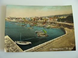 MANFREDONIA   PORTO   FOGGIA   PUGLIA  VIAGGIATA    COME DA FOTO  IMMAGINE LUCIDA ACQUERELLATA - Manfredonia