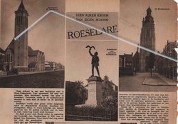 ROESELARE..1937.. GEEN RIJKER SCHOON DAN EIGEN KROON. - Non Classificati