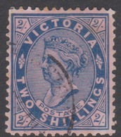 Australia-Victoria SG 374  1901-10 Two Shillings Blue Rose,perf 12.5,used - 1850-1912 Victoria