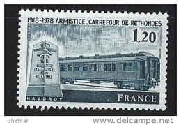 "FR YT 2022 "" Armistice à Rethondes "" 1978 Neuf** - France"