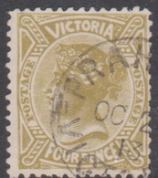 Australia-Victoria SG 404  1901-10 Four Pence Olive,perf 12.5,used - 1850-1912 Victoria
