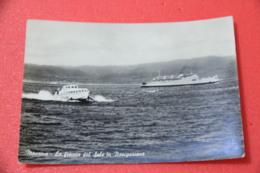 Messina La Freccia Del Sale In Navigazione 1957 - Messina
