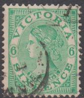 Australia-Victoria SG 406b 1901-10 Sixr Pence  Emerald,perf 12.5,used - 1850-1912 Victoria