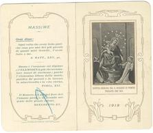 Calendarietto Nostra Signora Del SS. Rosario Di Pompei 1919 (04) - Petit Format : 1901-20