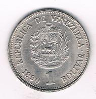 1 BOLIVAR 1990 VENEZUELA /1412/ - Venezuela