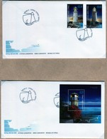 Cipro 2011 Lighthouses 2 FDC + 2 Valori + 1 Foglietto - Nuovi