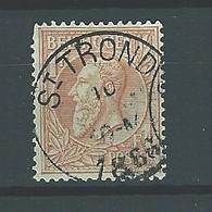 [51_0001] Zegel 51 Met Cirkelstempel St-trond Scan Voor- En Achterzijde - 1884-1891 Léopold II