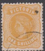 Australia-Victoria SG 408b   1905-13 One Shilling Lemon,perf 12,used - 1850-1912 Victoria