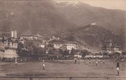 OUDE POSTKAART ZWITSERLAND SCHWEIZ SUISSE SVIZZERA BELLINZONA FOOTBALL CAMPO SPORTIVO 1922 TRES BON ETAT - TI Tessin