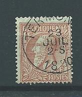 [51_0002] Zegel 51 Met Cirkelstempel Termonde Scan Voor- En Achterzijde - 1884-1891 Léopold II