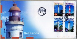 Barbados  2013 Lighthouses 1 FDC + 4 Valori + Broschoure - Barbados (1966-...)