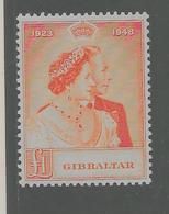 Gibraltar - Noces D'argent Des Souverains En 1948 - Y Et T N° 120** (M.N.H. ) Trés Trés BEAU - Gibraltar