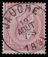 """COB N° 46 - T. BELLE Oblitération - """"JAUCHE"""" - 1884-1891 Léopold II"""