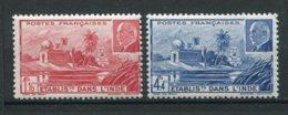 16937 INDE  N°126/7** Temple Près De Pondichéry Et Maréchal Pétain    1941   TB/TTB - Indië (1892-1954)
