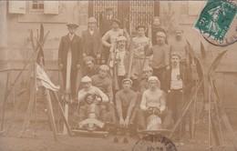 LA BOURBOULE TRES BELLE CARTE PHOTOS AVEC GROUPPES DE SKIEURS ANNEE 1913 CHARLANNES PICTOU TRES BON ETAT - La Bourboule