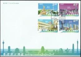 MACAO/MACAU 2019 Guangdong HK Macau Greater Bay Area FDC - 1999-... Chinese Admnistrative Region