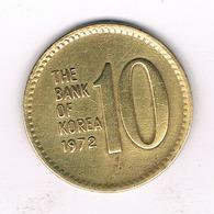 10 WON 1972 ZUID KOREA /1480/ - Corée Du Sud
