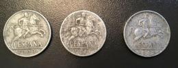 SPAGNA  ESPANA - 1940 , 1941 E 1945  - 3 Monete 10 CENTS - [ 5] 1949-… : Regno