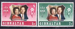 GIBRALTAR - 1972 - Silver Wedding  -Yvert 290/291  Neufs ** (L515-5) - Gibraltar