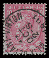 """COB N° 46 - BELLE Oblitération - """"MEIX-DEVANT-VIRTON"""" - 1884-1891 Léopold II"""