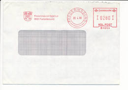 Meter Slogan Commercial Cover Hasler / Heraldry, Municipal Hospital - 30 April 1986 Frederikssund - Covers & Documents