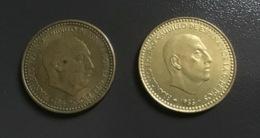 SPAGNA  ESPANA - 1947 E 1966 - 2 Monete 1 PESETA  Franco E Juan Carlos - [ 5] 1949-… : Regno