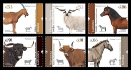 Portugal 2020 Mih. 4576/81 Fauna. Portuguese Autochthonous Breeds (III) MNH ** - Ungebraucht