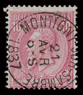 """COB N° 46 - Oblitération CONCOURS - """"MONTIGNY-SUR-SAMBRE"""" - 1884-1891 Léopold II"""