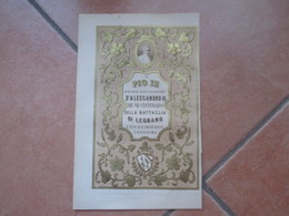Antica STAMPA Epoca Papa PIO IX Sucessore Alessandro III VII Centenario Battaglia Legnano Oro - Documentos Antiguos
