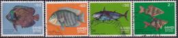 SRI LANKA 1972 SG #594-97 Compl.set Used Fish - Sri Lanka (Ceylon) (1948-...)