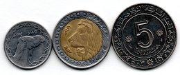 Algérie / Lot De 3 Monnaies - Algérie