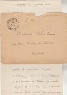Lettre Cachet Prisonniers  Guerre De Chevry Cossigny Seine Et Marne 1917  à Mlle Calas Marseille Texte Voir Description - Marcophilie (Lettres)