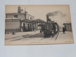 VILLERS SUR MER - CPA 14 - La Gare - Carte Animée Et Superbe Train à Vapeur; - Villers Sur Mer
