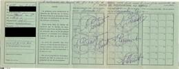 Carte De Pointage De Demandeur D'emploi 1956  - Service Départemental De Main-d'oeuvre - Chalon Sur Saône - Vecchi Documenti