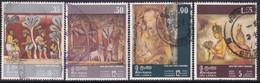 SRI LANKA 1973 SG #599-602 Compl.set Used Rock And Temple Paintings - Sri Lanka (Ceylon) (1948-...)