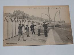 VILLERS SUR MER - CPA 14 - La Barque De Sauvetage, La Petite Simone. Personnages. - Villers Sur Mer