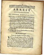 1746 CONSEIL ETAT DU ROY ROI CORSAIRES NEGOCIANTS FISCALITE Hautbreuil Houvet  LE HAVRE Navire St Adrien Granville - Historical Documents